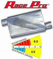 Pypes Performance Exhaust MVR203S Pair of Stainless Steel M-80 Race Pro Mufflers 14in x 3in Outlet