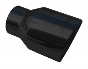 "2.5"" to 4"" x 6"" Rolled Edge Angle Cut Tips - BLACK EVT52B - Image 1"