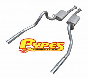 "79-97 Mustang LX/GT Cat Back System 3"" Tips SFM16V - Image 1"