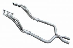 2011-2014 Ford Mustang V6 Long Tube Exhaust Headers with X-Pipe HDR72SK - Image 1