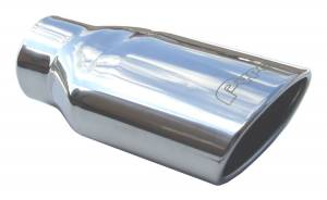 "2.5"" to Oval 6"" X 3"" Slip-Fit Stainless Tips EVT29 - Image 1"