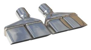 "70-74 Challenger Dual Rectangle 2.5"" Tips EVT86 - Image 1"