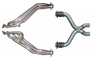 11-14 Mustang Long Tube Headers w/ Catted X-Pipe HDR76SK-1