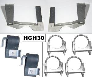"64-72 GTO 2.5"" Stainless Hanger Kit HGH30 - Image 1"