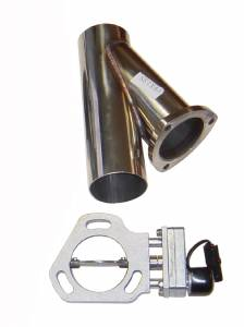 "Electric Exhaust Cutout - Single Kit w/ 2.5"" Y-Pipe HVE11K"