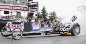 Pypes Sponsorship Team - Paul Spotts 7.14 second dragster