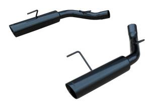 2005-2010 Ford Mustang GT & Shelby GT500 Black Pype Bomb Axle Back 304SS Exhaust SFM60MSB - Image 1