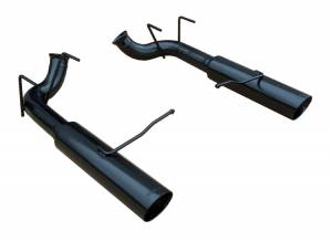 11-14 Mustang GT Pype Bomb Axle Back System BLACK SFM76MSB